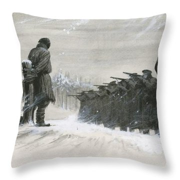 A Last Minute Reprieve Saved Fyodor Dostoievski From The Firing Squad Throw Pillow
