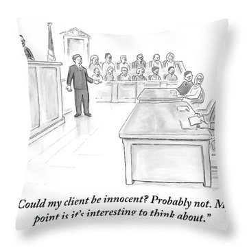 A Lawyer Makes His Case In Front Of A Jury Throw Pillow