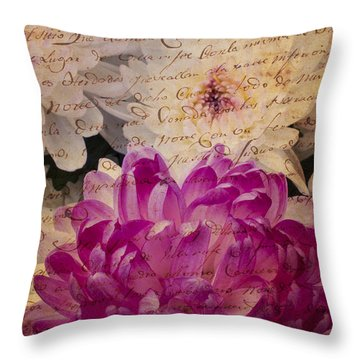 A Letter To The Mums Throw Pillow