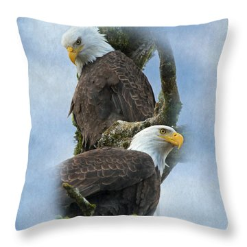 A Life-long Bond Throw Pillow by Angie Vogel