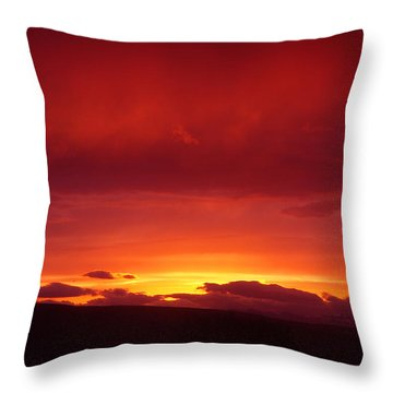 A Light In The Clouds  Throw Pillow by Jeff Swan