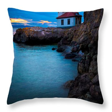 A Light In The Darkness Throw Pillow by Inge Johnsson