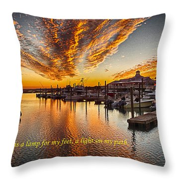 A Light On My Path Throw Pillow
