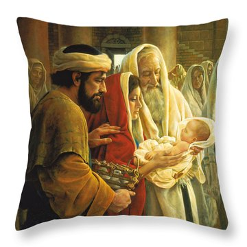 Throw Pillow featuring the painting A Light To The Gentiles by Greg Olsen