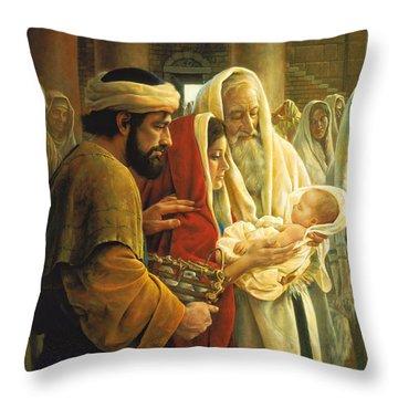 St Mary Throw Pillows