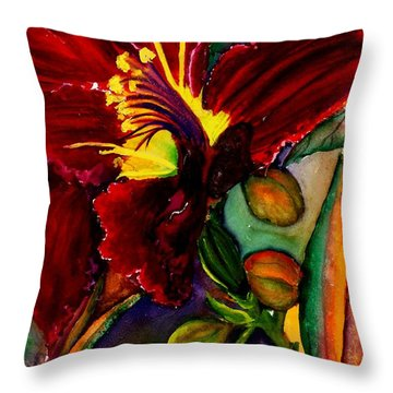 A Lily A Day Throw Pillow by Lil Taylor