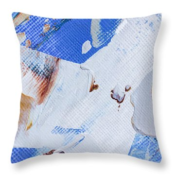 Throw Pillow featuring the painting A Little Blue by Heidi Smith