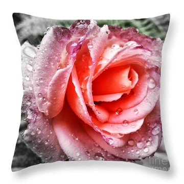 A Little Closer Throw Pillow by Heather L Wright