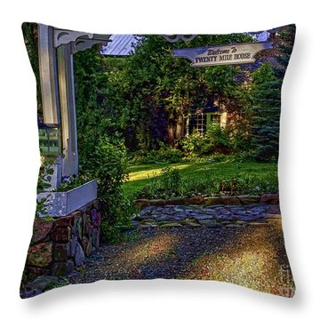 A Little Cottage In The Woods Throw Pillow