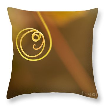 A Little Curl Throw Pillow by Sabrina L Ryan