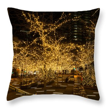 A Little Golden Garden In The Heart Of Manhattan New York City Throw Pillow