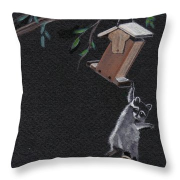 A Little Help Here Throw Pillow by Catherine Swerediuk