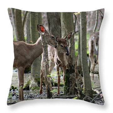 A Little More To The Left Throw Pillow