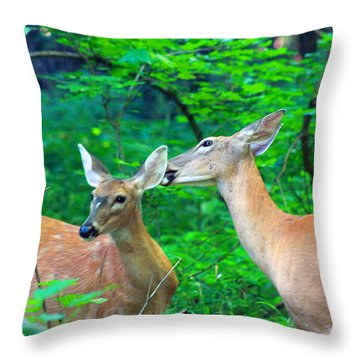 A Little More To The Right Please Throw Pillow