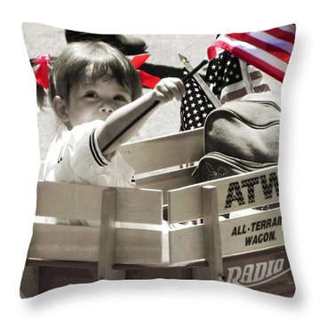 A Little Pride Throw Pillow by Leah Moore