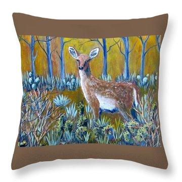 Throw Pillow featuring the painting A Little Rough Around The Edges by Suzanne Theis