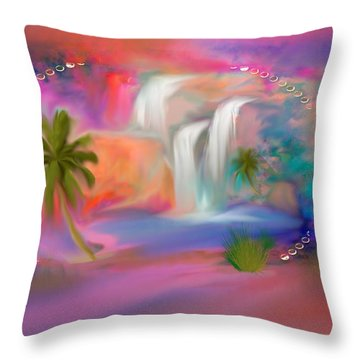 A Little Secret Place In Heaven To Meditate Throw Pillow
