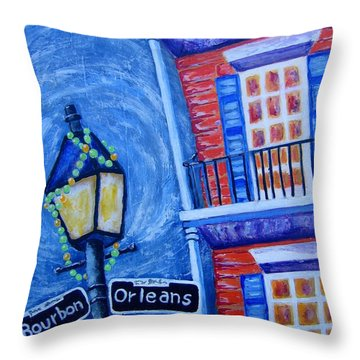 A Little Woozy Throw Pillow by Suzanne Theis