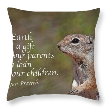 Throw Pillow featuring the photograph A Loan From Our Children by Ruth Jolly