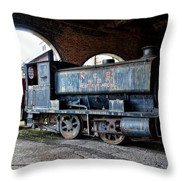 A Locomotive At The Colliery Throw Pillow by RicardMN Photography