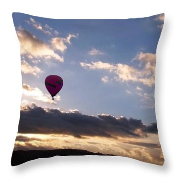 A Lone Flight Throw Pillow by Glenn McCarthy Art and Photography