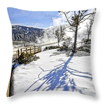 A Lonely Boardwalk Throw Pillow