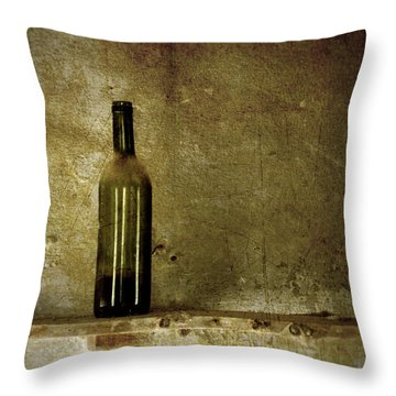 A Lonely Bottle Throw Pillow by RicardMN Photography