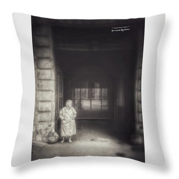 Throw Pillow featuring the photograph A Long Boring Wait... by Stwayne Keubrick