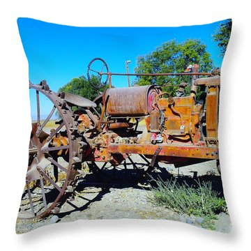 A Long Right Hand Turn  Throw Pillow by Jeff Swan