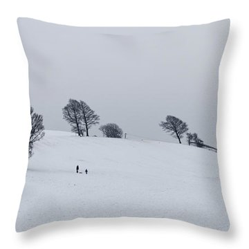 Throw Pillow featuring the photograph A Long Walk Back Up by Mick Flynn