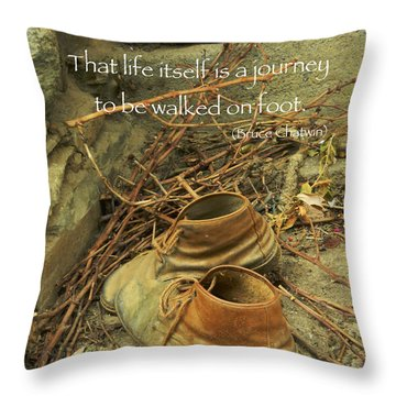 A Long Way Throw Pillow