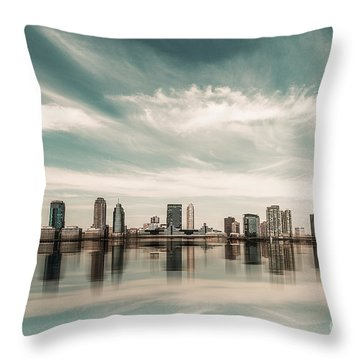 a look to New Jersey  Throw Pillow