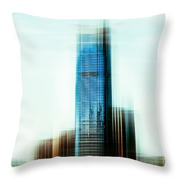 A Look To New Jersey II - Steel Throw Pillow