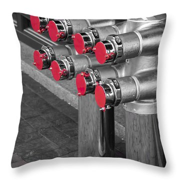 A Lot Of Red Dots Throw Pillow