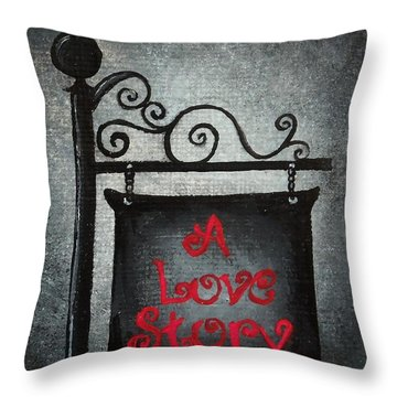 A Love Story No 10 Throw Pillow