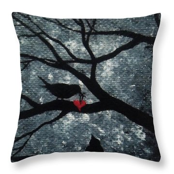 Throw Pillow featuring the painting A Love Story No 7 by Oddball Art Co by Lizzy Love