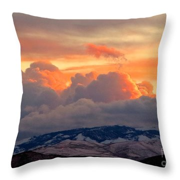 A Lovely Stormy Susnset Throw Pillow by Phyllis Kaltenbach
