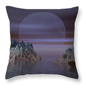 Throw Pillow featuring the digital art A Lover's Hide-a-way by Jacqueline Lloyd