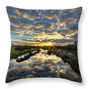 A Magical Marshmallow Sunrise  Throw Pillow