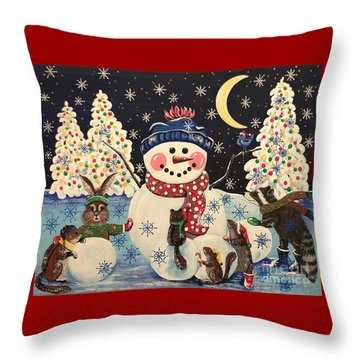 A Magical Night In The Snow Throw Pillow