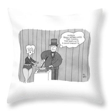 A Magician Is Seen Throw Pillow