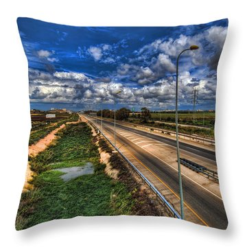 Throw Pillow featuring the photograph a majestic springtime in Israel by Ron Shoshani