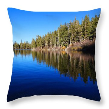 Throw Pillow featuring the photograph A Mammoth Lake by Julia Ivanovna Willhite