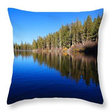 A Mammoth Lake Throw Pillow by Julia Ivanovna Willhite