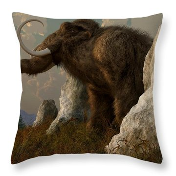 A Mammoth On Monument Hill Throw Pillow by Daniel Eskridge