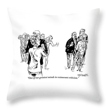 A Man And A Woman Are Seen Speaking With Each Throw Pillow