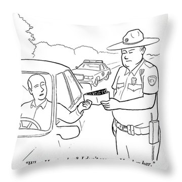 A Man Attempts To Bribe A Traffic Police Officer Throw Pillow