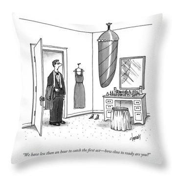 A Man In A Tuxedo Throw Pillow