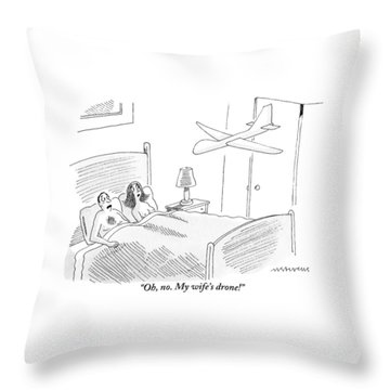 A Man Is In Bed With A Woman Throw Pillow