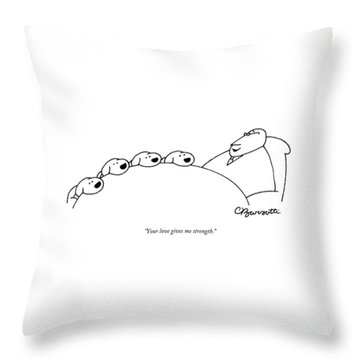 Your Love Gives Me Strength Throw Pillow